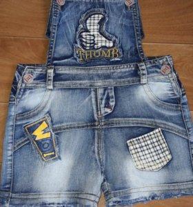 детский джинсовый комбез