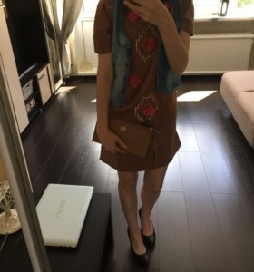 Платье под замшу новое оригинал