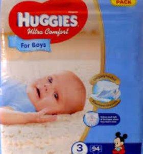 "Памперсы ,,huggies"" ultra comfort 3 ка"