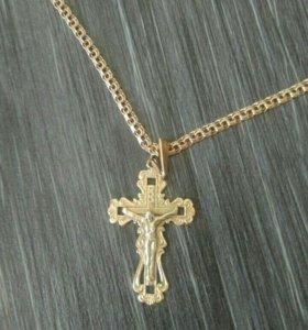 Золотая Цепь с крестиком