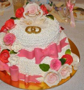 Домашние тортики,пирожн.,каравай
