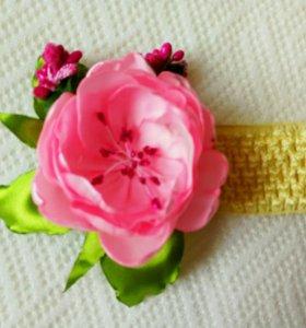 Канзаши повязка на голову ручной работы