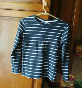 Блузка-трикотаж в полоску на рост 134 -140см