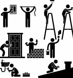 Ремонтные и строительные работы сборка мебели
