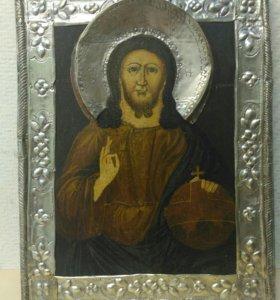 Икона старинная Господь Вседержитель, Спаситель