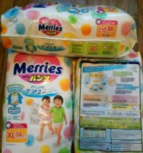 Трусики-подгузники Merries XL (12-22 кг) 38шт