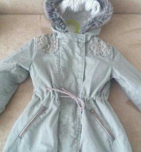 Куртка- парка на девочку 116-120рост