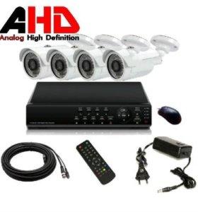 Универсальный AHD комплект 4 камеры и регистратор