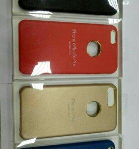 IPhone 6,6+,7,7+ кожанная задняя панель.