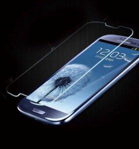 Защитное стекло Samsung Galaxy S3 (GT 9300)