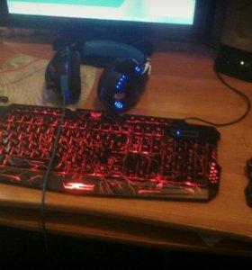 Клавиатура и наушники