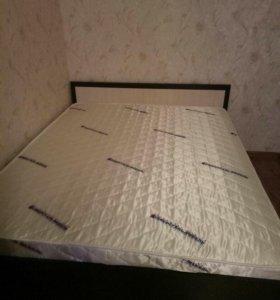 Кровать двуспальная новая с матрасом и основанием