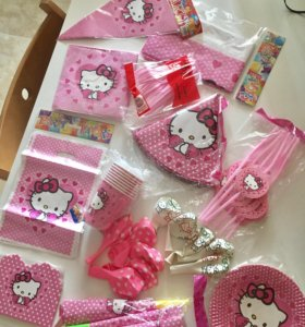 Украшение ко дню рождения Hello Kitty