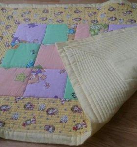Одеялко детское лоскутное