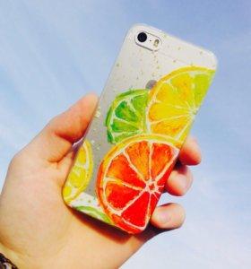 Чехол для IPhone 5/5s, 6/6s🍊🍋