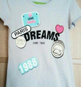 Блузки и футболки на девочку 8-10 лет