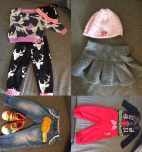 Комплекты, пакет вещей девочка 68-74-80