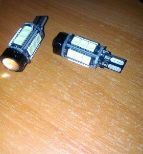 ❄ Гибридные лампы W5W 12 х smd 5050 + Coob Led t10