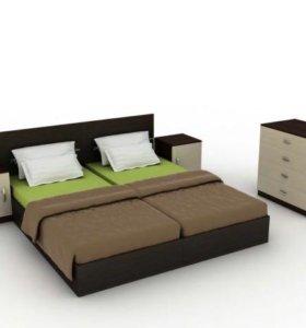 Новый спальный гарнитур с 2 матрасами!!
