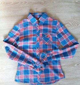 Рубашка в клетку xs