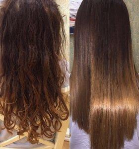 Биксипластия кератиновое выпрямление волос