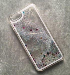 Чехол для iPhone 6/6s с блестками внутри