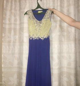 Вечернее платье в пол.Одевали один раз