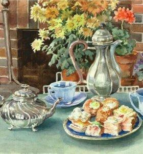 Картина по номерам- завтрак с пирожными