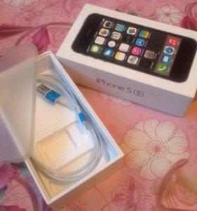 Коробка+кабель+чехол от iPhone 5s