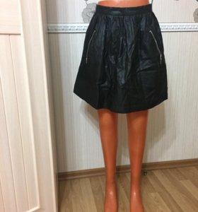 Новая женская юбка экокожа