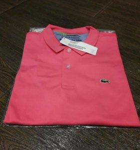 Новая Поло Lacoste розовая