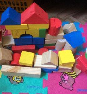 2 набора деревянных кубиков