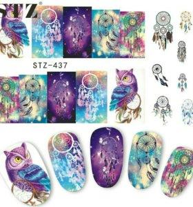 Переводные наклейки для дизайна ногтей