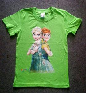 футболки на девочек в ассортименте .5,6,7,8лет