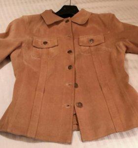 Замшевые куртка