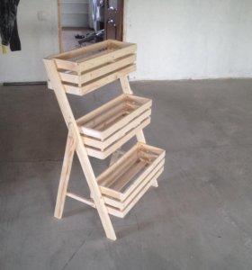 Клумба деревянная