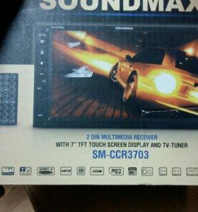 Автомагнитола 2Din SoundMAX SM-CCR3703