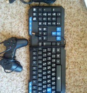 Клавиатура+мышка+джостик