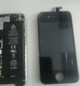 Аккумулятор и дисплей для iphone
