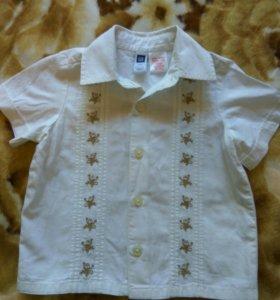 Рубашка на мальчика, р. 6-12мес Индия