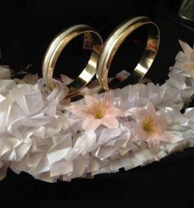 украшение для авто на свадьбу