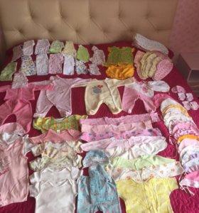 Одежда на девочку от 0 до 1,5 лет,можно шт.)