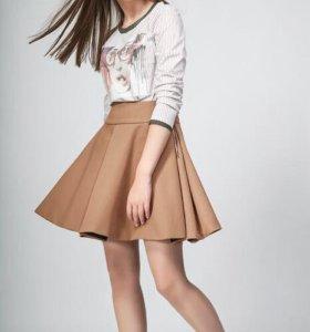 Новая юбка Balunova Moveri р. 46 цвет бежевый