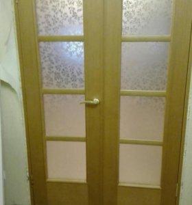 Двери в зал и санузел