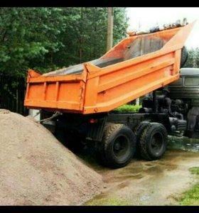 доставку песок,щебень сыпучих грузов