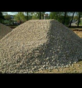 Шебен крошка гранит земля торф драва песок в мусра