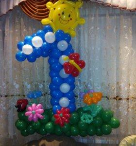 Цифра из шаров на день рождения вашего малыша