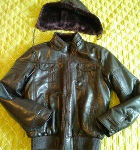 Куртка экокожа на теплую зиму M 46-48