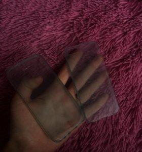 Двухсторонний силиконовый чехол на айфон 5s