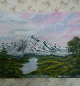 Картина маслом( горы)